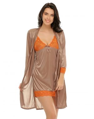 Buy 2 PCs Short Robe & Nighty Set online