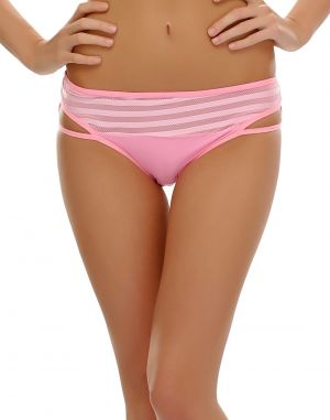 Buy Clovia Sexy Bikini With Jacquard Design In Light Pink online