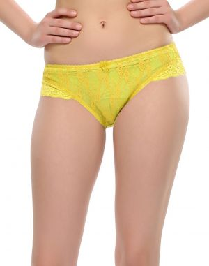 Buy Clovia Sxy Lace Brief In Exotic Yellow online
