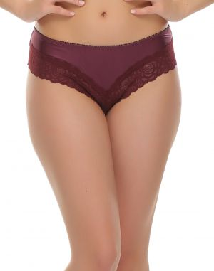 Buy Clovia Lace Hipster In Dark Purple Pn0374p15 online