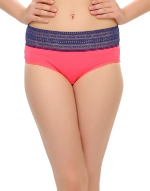 Buy Clovia Pink Hipster With Sexy Lace Trims Pn0379p22 online