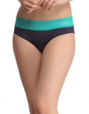 Buy Clovia Trendy Lacy Panty In Blue Pn0381p08 online