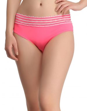Buy Clovia Trendy Lacy Panty In Pink Pn0381p22 online