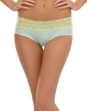 Buy Clovia Light Green Bikini With Lace Trims Pn0386p11 online