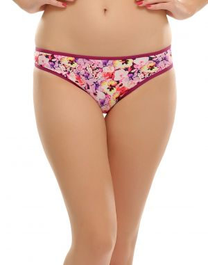 Buy Clovia Floral Printed Bikini With Sexy Back Pn0398p15 online