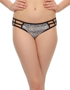 Buy Clovia Printed Bond Girl Bikini In Black Pn0400p13 online