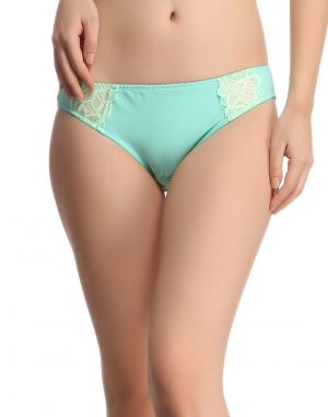Buy Clovia Sea Green Bikini With Lace Pn0410p11 online