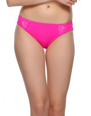Buy Clovia Hot Pink Bikini With Lace Pn0410p14 online
