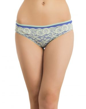 Buy Clovia Lacy Panty In Blue Pn0452p08 online