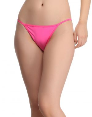 Buy Clovia Polyamide With Back Net Panty In Shocking Pink online
