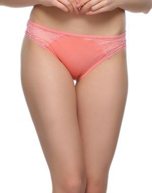 Buy Clovia Sexy Lacy Bikini In Coral Pn0469p16 online