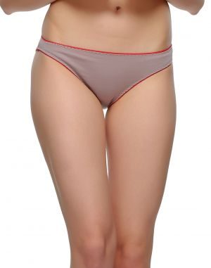 Buy Clovia Cotton Comfy Brief In Grey Pn0481p01 online