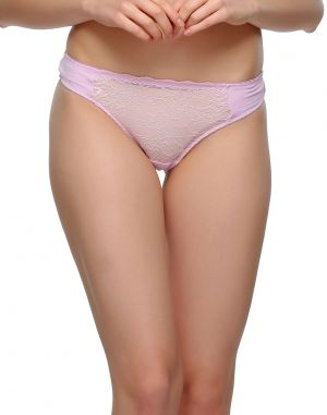 Buy Clovia Sexy Lacy Thong In Light Pink Pn0484p22 online