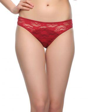 Buy Clovia Lace Bikini In Maroon Pn0486p09 online