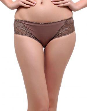 Buy Clovia Lacy Polyamide Bikini In Fossil Brown Pn0487p06 online