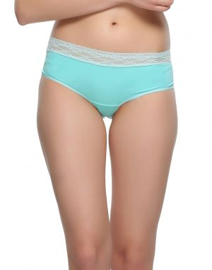 Buy Clovia Trendy Lacy Panty In Blue Tint online