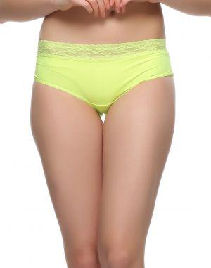 Buy Clovia Trendy Lacy Panty In Florescent Green Pn0492p11 online