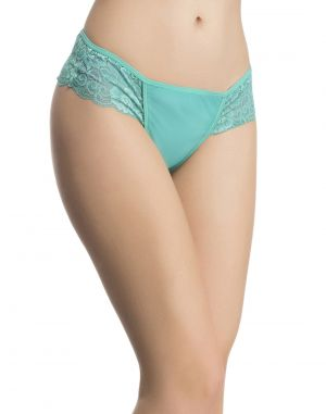 Buy Clovia Lacy Powernet Panty In Turquoise online