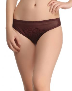 Buy Clovia Sexy Lacy Brief In Grape Wine online