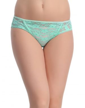 Buy Clovia Aqua Lace Bikini With Scallop Lace At Legs -(product Code- Pn0596p03) online