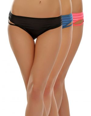 Buy Clovia Pack Of 3 Panty In Multi Color-(product Code-pnc001c33) online