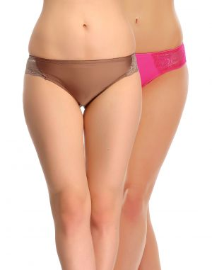 Buy Clovia Pack Of 2 Panty In Multi Color-(product Code-pnc001c37) online
