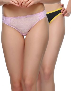 Buy Clovia Pack Of 2 Panty In Multi Color-(product Code-pnc002c36) online
