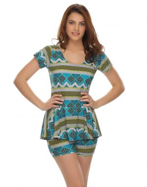 Buy Clovia Polyamide Frock Swimsuit In Trendy Prints (product Code - Sm0009p02 ) online