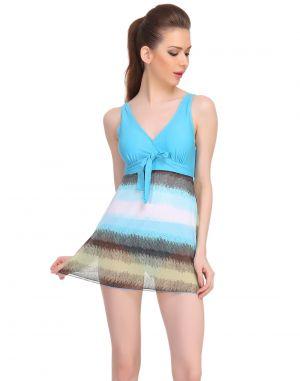 Buy Clovia Polyamide & Powernet Padded Monokini Swimsuit In Light Blue -(product Code- Sm0039p03) online