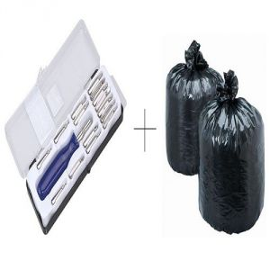 Buy Buy Disposables Garbage Bag 60 Pcs With Free Jackly 16 In 1 Screwdriver Toolkit online
