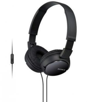 Buy Sony Mdr-zx110ap Zx Series Extra Bass Smartphone Headset With Mic - Black online