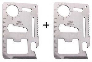 Buy Buy 1 Get 1 Free 11 In 1 Stainless Steel Survival Tool Kit Pocket - B1g11in online
