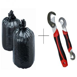 Buy Buy Disposables Garbage Bag 150 PCs With Free Snap N Grip Wrench Set - Grb150snp online