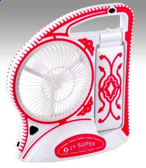 Buy JY Jumbo Branded Rechargeable Fan With Torch & 15 Led Light online