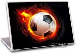 Buy Fire Football Laptop Notebook Skins High Quality Vinyl Skin - Lp315 online