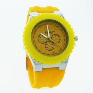 Buy Yellow Designer Mens Boys Fiber Wrist Watch online