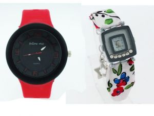 Buy Buy 1 Ladies Get 1 Designer Menstylish Wrist Watch online
