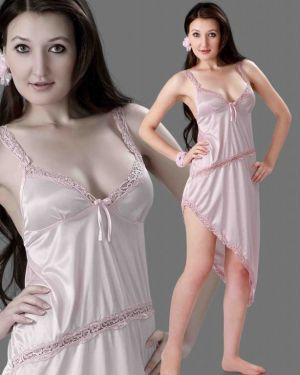 Buy Satin Comfortable To Wear 3/4 Nighty 1 P online