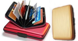 Buy Aluma Data Secure Aluminum Indestructible Wallet Water Proof Rfid Safe Gold online