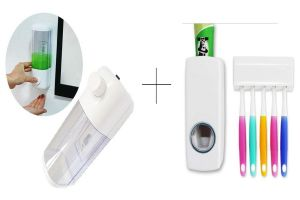 Buy Buy Single Soap Dispenser With Automatic Toothpaste Dispenser - Sdistdis online