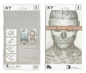 Buy Designer Front And Back Screen Protector Skin For Apple iPhone 4 4s Scr4030 online
