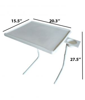 Buy Table 2 Portable Adjustable Dinner Cum Laptop Tray Table online