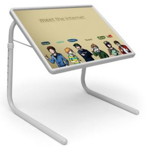 Buy Tech Table Designer Portable Adjustable Dinner Cum Laptop Tray Table 440 online