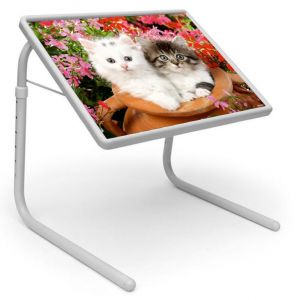 Buy Table Mate Designer Portable Adjustable Dinner Cum Laptop Tray Table (047) online