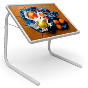 Buy Table Mate Designer Portable Adjustable Dinner Cum Laptop Tray Table (123) online