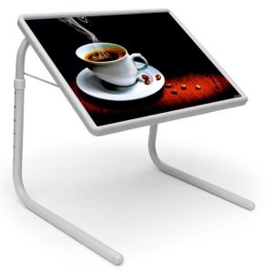 Buy Table Mate Designer Portable Adjustable Dinner Cum Laptop Tray Table (129) online