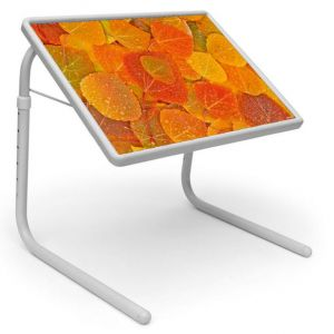Buy Table Mate Designer Portable Adjustable Dinner Cum Laptop Tray Table (206) online