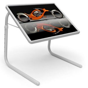 Buy Table Mate Designer Portable Adjustable Dinner Cum Laptop Tray Table (224) online