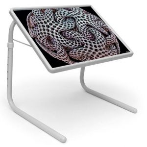 Buy Table Mate Designer Portable Adjustable Dinner Cum Laptop Tray Table (251) online