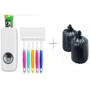 Buy Buy Toothpaste Dispenser With Free Disposables Garbage Bag 150 Pcs online